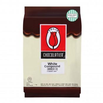 Tulip White Chocolate Compound แบบแท่ง 1 kg.